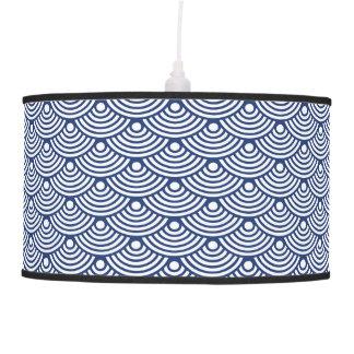 Royal Blue Modern Wave Pendant Lamp