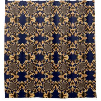Royal Blue Morphed Sunflower Motif