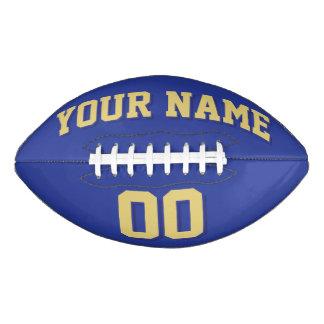 ROYAL BLUE OLD GOLD AND NAVY Custom Football