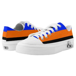 Royal Blue Orange Black and White Lo-Tops