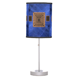 royal blue orange mirror decorative lamp shade