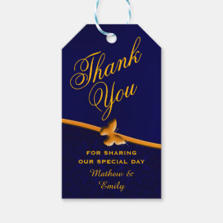 Royal Blue Personalized Thank You Wedding Favor Gift Tags