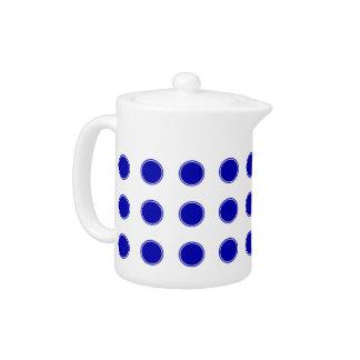Royal Blue Polka Dots on White