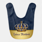 Royal Blue Prince Bib