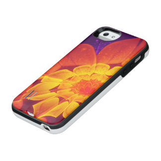 Royal Blue, Red, and Yellow Fractal Gerbera Daisy iPhone SE/5/5s Battery Case