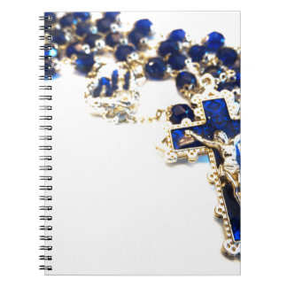 Royal Blue Rosary Spiral Notebooks