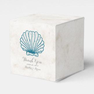 Royal Blue Rustic Seashell Wedding Favor Boxes