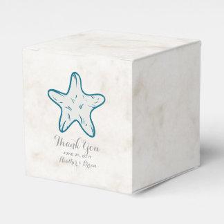 Royal Blue Rustic Starfish Wedding Favor Box