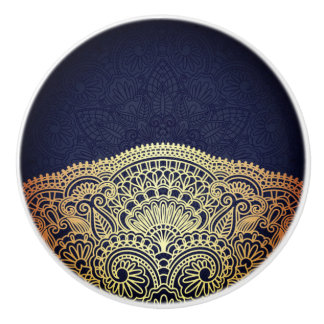 Royal Blue Sapphire Ceramic Knob