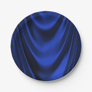 Royal Blue Satin 7 Inch Paper Plate