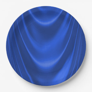 Royal Blue Satin Paper Plate