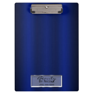 Royal Blue Shine Elegant Chic Glam Personalized Clipboard