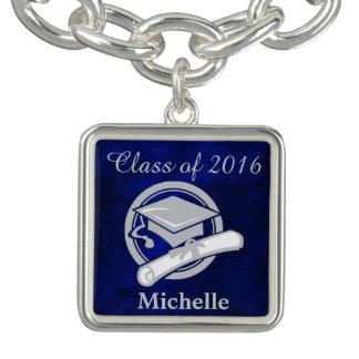 Royal Blue Silver Graduation Bracelet