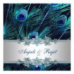 Royal Blue Silver Royal Blue Peacock Wedding