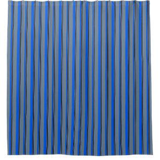 Royal Blue, Silver, White & Black Stripes