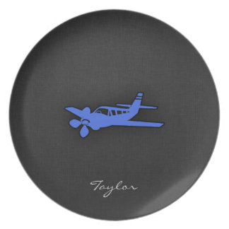 Royal Blue Small Plane Party Plates