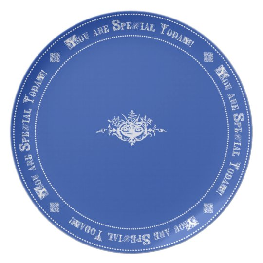Royal Blue Special Day Tradition Family Birthday Plate