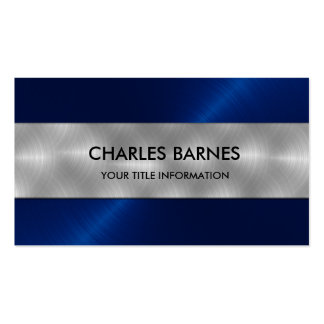 Royal Blue Stainless Steel Business Card