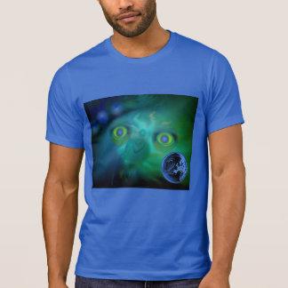 Royal Blue T-Shirt with Digital Image 'Moon Freak'