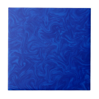 Royal Blue Tonal Abstract Swirled Background Ceramic Tile