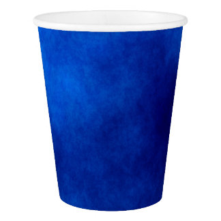 Royal Blue Watercolor Abstract Art Paper Cups