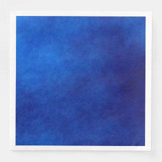 Royal Blue Watercolor Abstract Art Paper Napkins