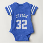 Royal Blue & White Baby | Sports Jersey Design Baby Bodysuit