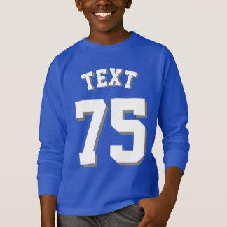 Royal Blue & White Kids   Sports Jersey Design T-Shirt