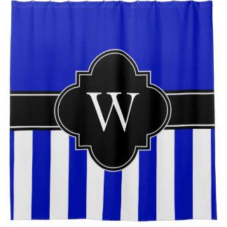 Royal Blue White LG Stripe 1ICBR Black Monogram