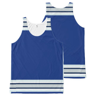 Royal Blue with Silver White and Navy Trim