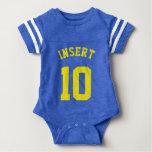 Royal Blue & Yellow Baby   Sports Jersey Design T Shirt
