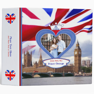 Royal British Baby Prince George Vinyl Binder