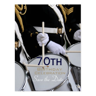 Royal British Band 70th Birthday Save the Date P Postcard