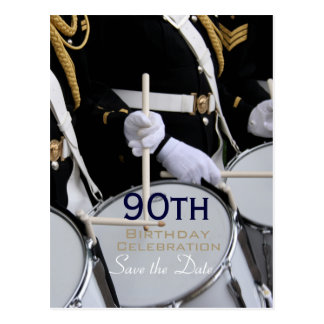 Royal British Band 90th Birthday Save the Date Postcard