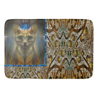 Royal Cat Animal Print Bath Mat