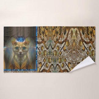 Royal Cat Animal Print Bath Towel