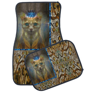 Royal Cat Animal Print Car Mat