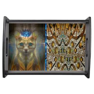 Royal Cat Animal Print Serving Tray