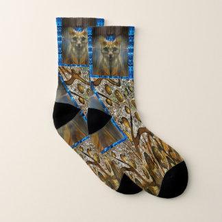 Royal Cat Animal Print Socks