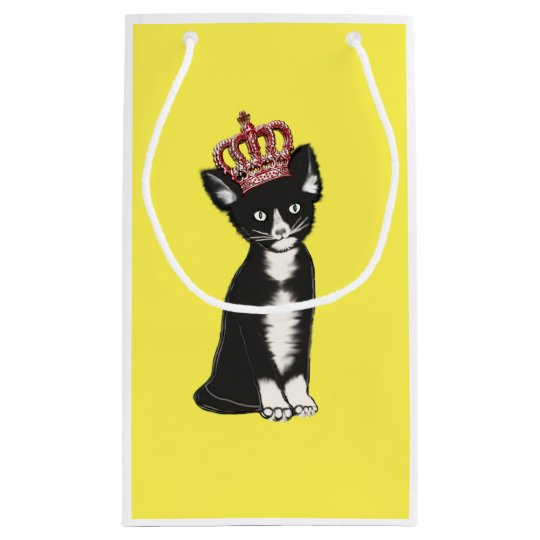 Royal Cat Crowned Small Gift Bag