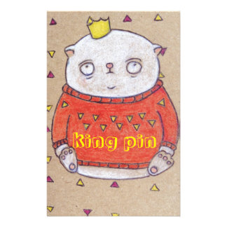 royal cat king pin stationery paper