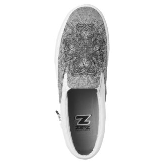 Royal Celtic Cross Slip On Canvas Shoes