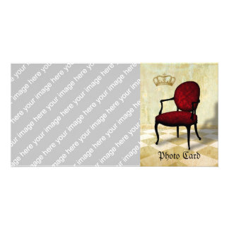 Royal Chair and Crown Customized Photo Card