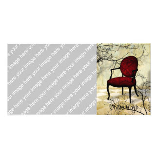 Royal Chair with Branches Personalized Photo Card