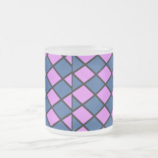 Royal Checkers Frosted Mug