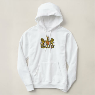 Royal coat of arms embroidered embroidered hoodie