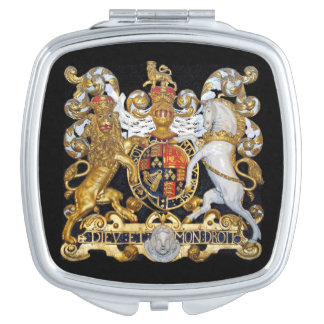 Royal Coat of Arms. (UK) Mirror For Makeup