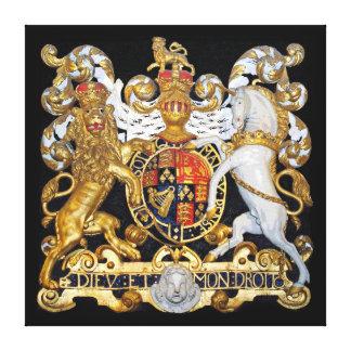 Royal Coat Of Arms, United Kingdom. Canvas Print
