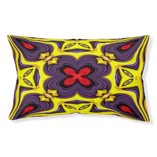 Royal Colorful Vintage Kaleidoscope Dog Bed