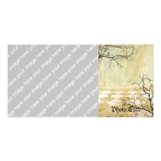 Royal Coordinates Background with Branches Photo Card Template